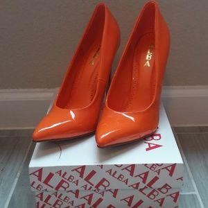 Sexy Orange High Heels